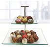 Circle Glass Chic Tiered Stand