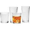 Circle Glass Column 16 Piece Glassware Set