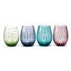 Circle Glass White Rain 20 oz. Stemless Wine Glass (Set of 4)