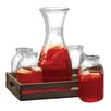 Circle Glass Morsela 6-Piece Beverage Dispenser Set