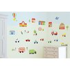 Fun To See Jolly Town Transport Room Décor Kit Wall Decal