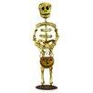 Shea's Wildflowers Decorative Standing Skeleton Man with Pumpkin