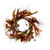 Shea's Wildflowers Cinnamon Sunflower Candle Ring Wreath