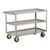 "Little Giant USA 24"" x 53.5"" 3 Shelf Heavy Duty Utility Cart"