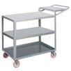 "Little Giant USA 18"" x 48"" 3-Shelf Utility Cart with Writing Shelf"