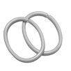 Sealskin Clip Shower Curtain Rings (Set of 12)