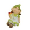 Young Girl Gnome Holding a Mushroom Garden Statue - Northlight Garden Statues and Outdoor Accents