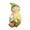 Northlight Seasonal Young Boy Gnome Sitting with Duck Garden Statue
