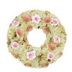 Northlight Seasonal Flowers, Ribbons and Twig Artificial Spring Floral Wreath