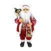 Northlight Seasonal Country Twist Standing Santa Claus Christmas Figure with Snow Sled and Gift Bag