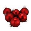 Northlight Seasonal Traditional Glass Ball Christmas Ornament (Set of 6)