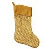 Northlight Seasonal Striped Glitter Christmas Stocking with Shadow Velveteen Cuff