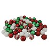 Northlight Seasonal 64 Piece Shatterproof Ball Christmas Ornament Set