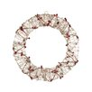 Northlight Seasonal Pre-Lit Glittered Rattan Berry Artificial Christmas Wreath