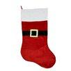 Northlight Seasonal Traditional Velveteen Santa Claus Belt Buckle Christmas Stocking