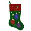 Northlight Seasonal Embroidered Velveteen Christmas Ornament Stocking with Cuff