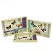 Northlight Seasonal 3 Piece Decorative Vintage Butterfly Rectangular Serving Tray Set