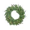 Northlight Seasonal Pre-Lit PE/PVC Mixed Pine Artificial Christmas Wreath