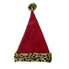 Northlight Seasonal Velvet Santa Hat with Animal Plush Cuff