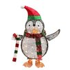 Northlight Seasonal Lighted Penguin Candy Cane Christmas Decoration