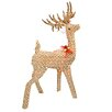 Northlight Seasonal Pre-Lit Striped Chenille Reindeer Christmas Decoration