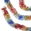 Northlight Seasonal Soft and Silky Rainbow Classics Christmas Tinsel Garland with Unlit