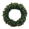 Northlight Seasonal Cedar Pine Artificial Christmas Wreath with Lights