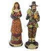 Northlight Seasonal Harvest Time Thanksgiving Pilgrim Couple Figurine