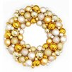 Northlight Seasonal Shades of Shatterproof Christmas Ball Ornament Wreath