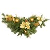 Northlight Seasonal Pre Decorated Pine Poinsettia and Ornament Adorned Artificial Christmas Swag