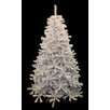 Northlight Seasonal 6.5' White Cedar Pine Artificial Christmas Tree with Blue Light