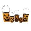 Northlight Seasonal Nesting Luminary Jack-O-Lantern Pumpkin Halloween Container Basket
