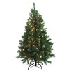 Northlight Seasonal 4.5' Green Cedar Pine Artificial Christmas Tree with Clear Light