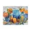 Northlight Seasonal Lighted Candle and Flower Scene Photographic Print on Canvas