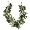 Northlight Seasonal Pre Decorated Silver Poinsettia Pomegranate and Pine Cone Artificial Christmas Garland