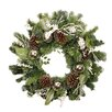 Northlight Seasonal Pre Decorated and Lightly Frosted Ball Berry and Pine Cone Unlit Artificial Christmas Wreath