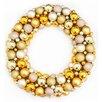 "Northlight Seasonal 24"" Shatterproof Christmas Ball Ornament Wreath"