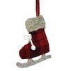 Northlight Seasonal Plaid Plush Knit Ice Skate Christmas Ornament