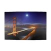 Northlight Seasonal Battery Operated 8 LED Golden Gate Bridge Photographic Print on Canvas