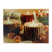 Northlight Seasonal Battery Operated 3 LED Wooden Candle Scene Photographic Print on Canvas