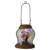 Northlight Seasonal LED Lighted Solar Powered Outdoor Garden Lantern with Flowers