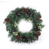 "Northlight Seasonal 24"" Artificial Red Berry Pine Cone Apple Christmas Wreath"