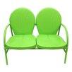 Northlight Seasonal Retro Metal Tulip 2 Seat Double Chair