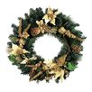 Northlight Seasonal Pre Decorated Poinsettia and Pine Cone Unlit Artificial Christmas Wreath
