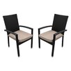 Northlight Seasonal Outdoor Patio Furniture Dining Chair with Cushion (Set of 2)