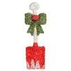 Northlight Seasonal Lighted Tinsel Snow Shovel with Bow Christmas Window Decoration