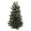 Northlight Seasonal 2.5' Pre-Lit Canadian Pine Artificial Christmas Tree with 35 Multi Lights