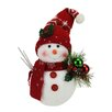 Northlight Seasonal Alpine Chic Sparkling Snowman with Knit Santa Hat and Ornament