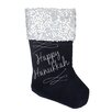 Northlight Seasonal Square Sequin Cuffed Embroidered Velvet Stocking