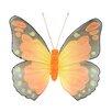 Northlight Seasonal Decorative Glitter Mesh Monarch Butterfly Decoration
